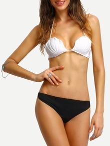 e57a03aea399b Halter Seashell Bikini Top