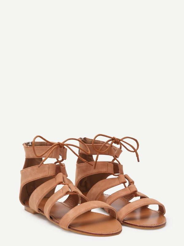 4f11da6a7be Peep Toe Caged Cut Out Gladiator Sandals