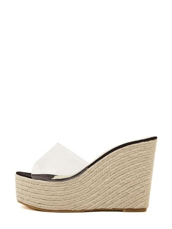 c4da3de6b6 Cheap Black Cork Sole Wedge Sandals for sale Australia | SHEIN