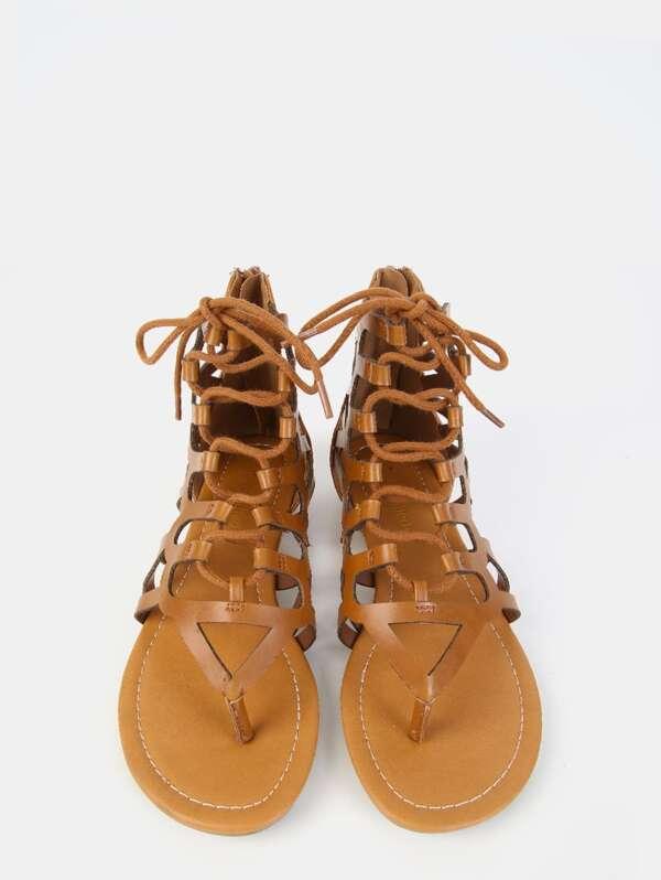 11c77066ec64c Gladiator Thong Sandals TAN -SheIn(Sheinside)