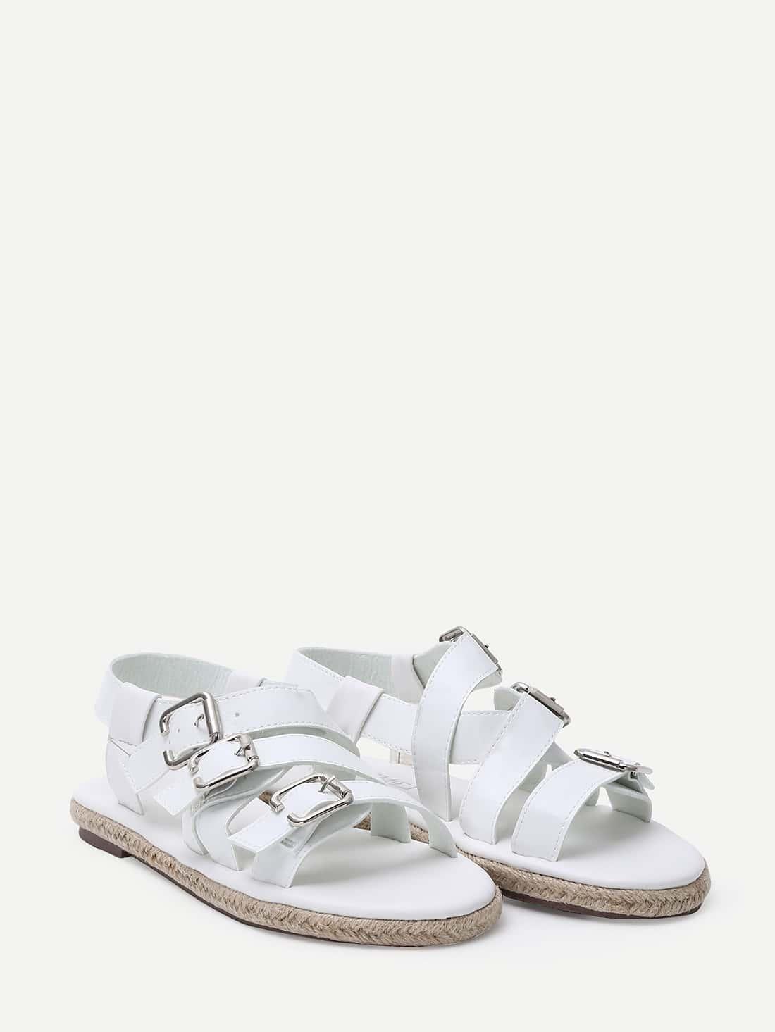 white open toe espadrille sandals shein sheinside