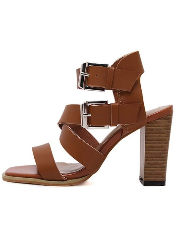 a39b14cc6 Cheap Light Brown Faux Leather Chunky Gladiator Sandals for sale Australia