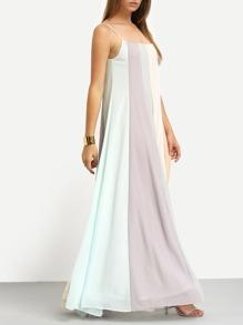 be3fa79194 Colour Block Spaghetti Strap Maxi Dress | SHEIN UK