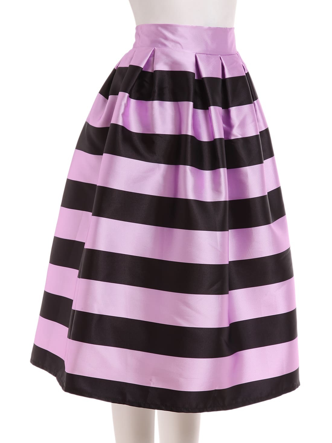 wide striped box pleated midi skirt shein sheinside