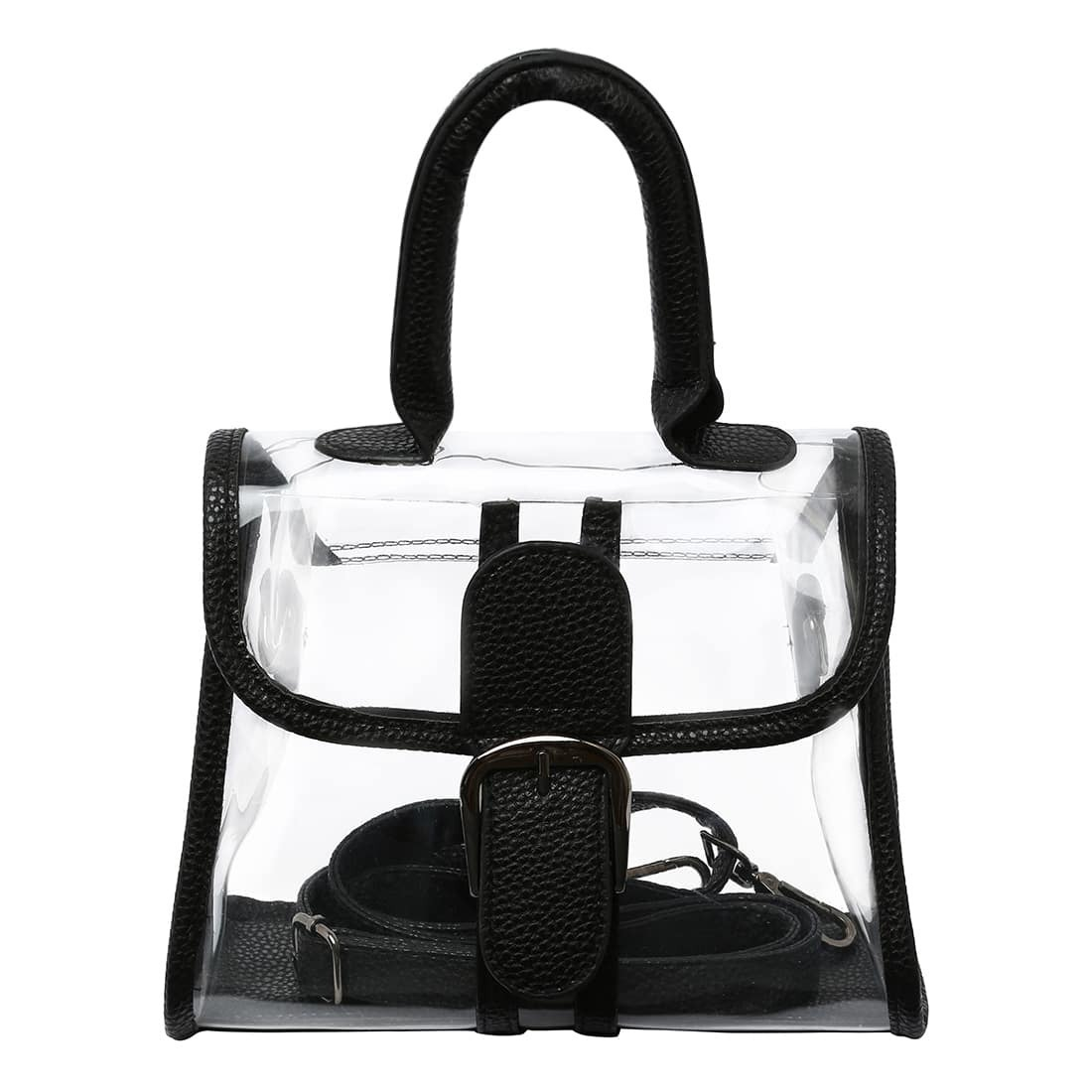 - Oversized Buckle Transparent Handbag