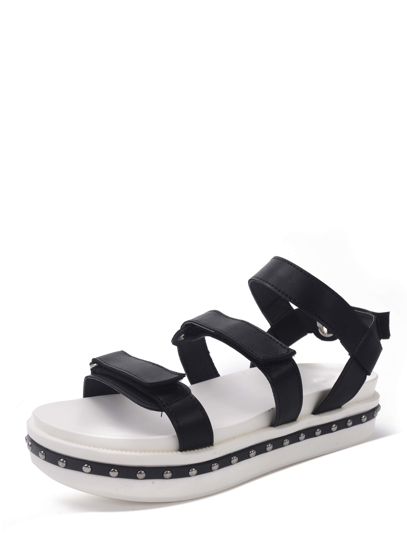 black open toe wedge sandals shein sheinside