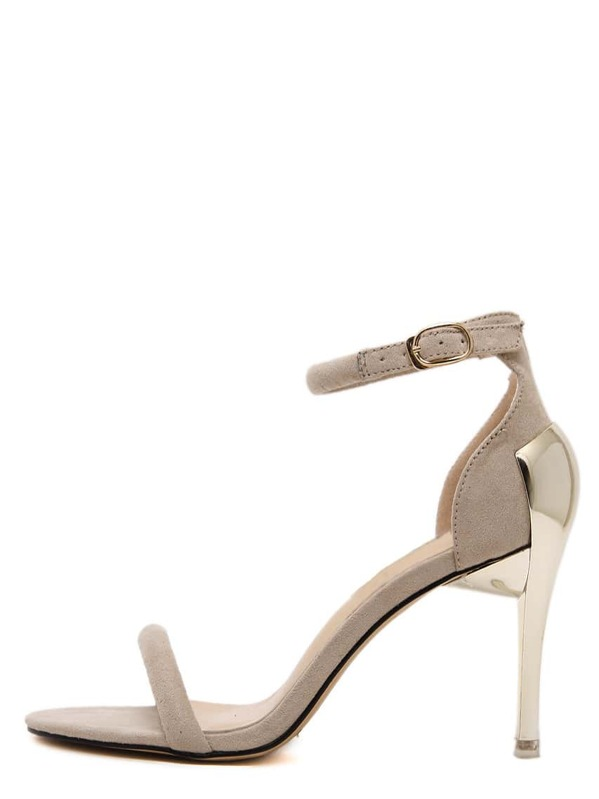 904254a7ef8a Apricot Open Toe Ankle Strap High Stiletto Sandals