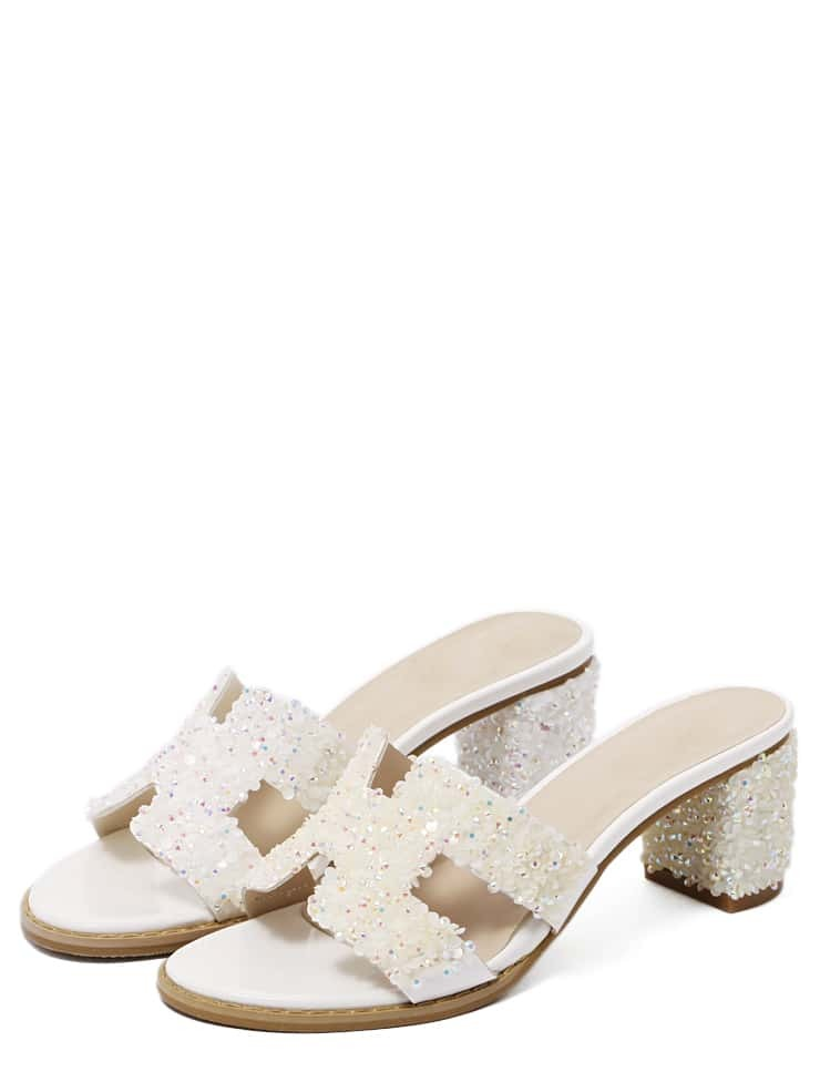 white faux suede open toe sandals shein sheinside