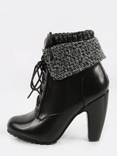 7be9aa390c ... Sweater Cuff Heeled Booties BLACK. AddThis Sharing Buttons