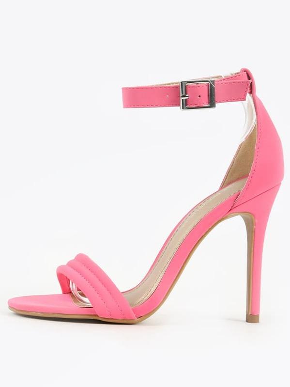 ca30e124f5 Shoe Republic LA Emily Ankle Strap Heels FUCHSIA | SHEIN