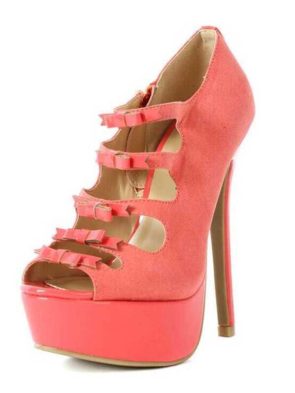 77ce1f4fa8a Cheap Wild Diva Jacklyn-51a Strappy Bow Heels CORAL for sale Australia
