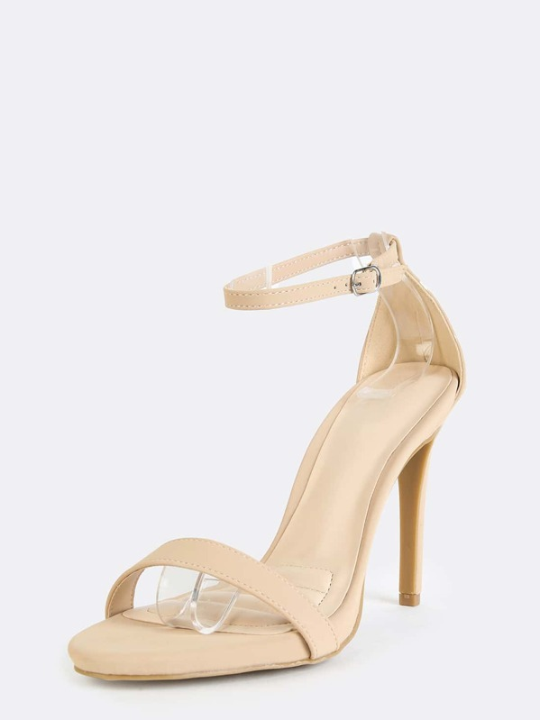 d8a7d1ee97 Open Toe Single Sole Stiletto Heels NUDE | SHEIN IN