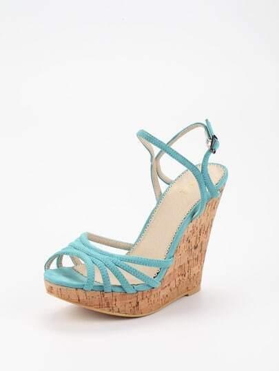 home shoes wedges blue blue suede high heel peep toe platform strappy. Black Bedroom Furniture Sets. Home Design Ideas