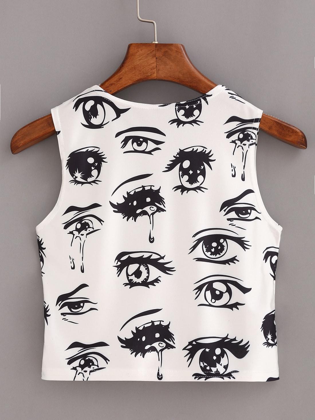 Eyes Print Tank Top