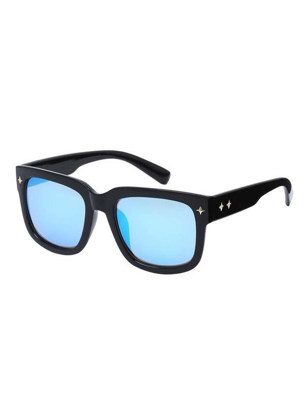 6a5523ba7f Blue Lenses Oversized Square Sunglasses -SheIn(Sheinside)