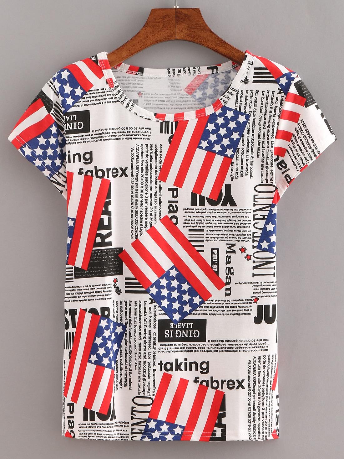 Usa Camiseta De Usa Letras Bandera Letras De Bandera Camiseta CreodxB