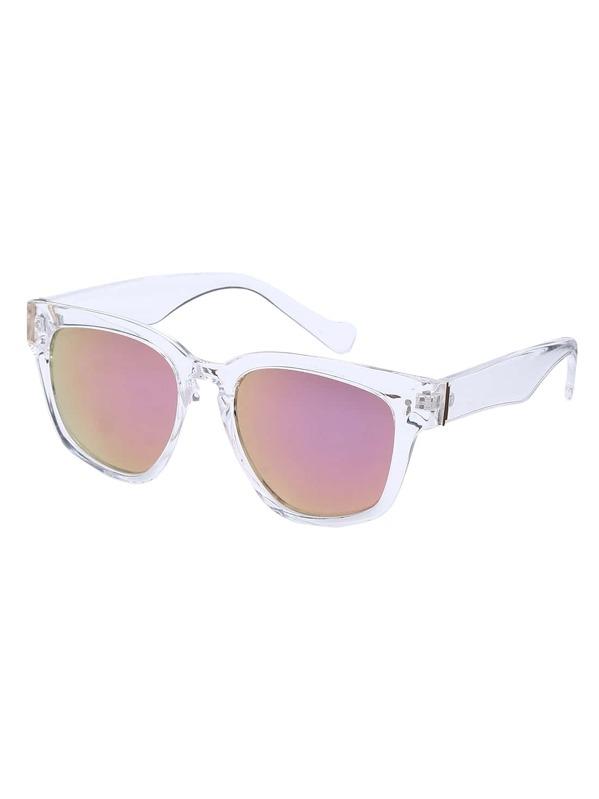 bde691e5af Rose Gold Oversized Square Sunglasses -SHEIN(SHEINSIDE)