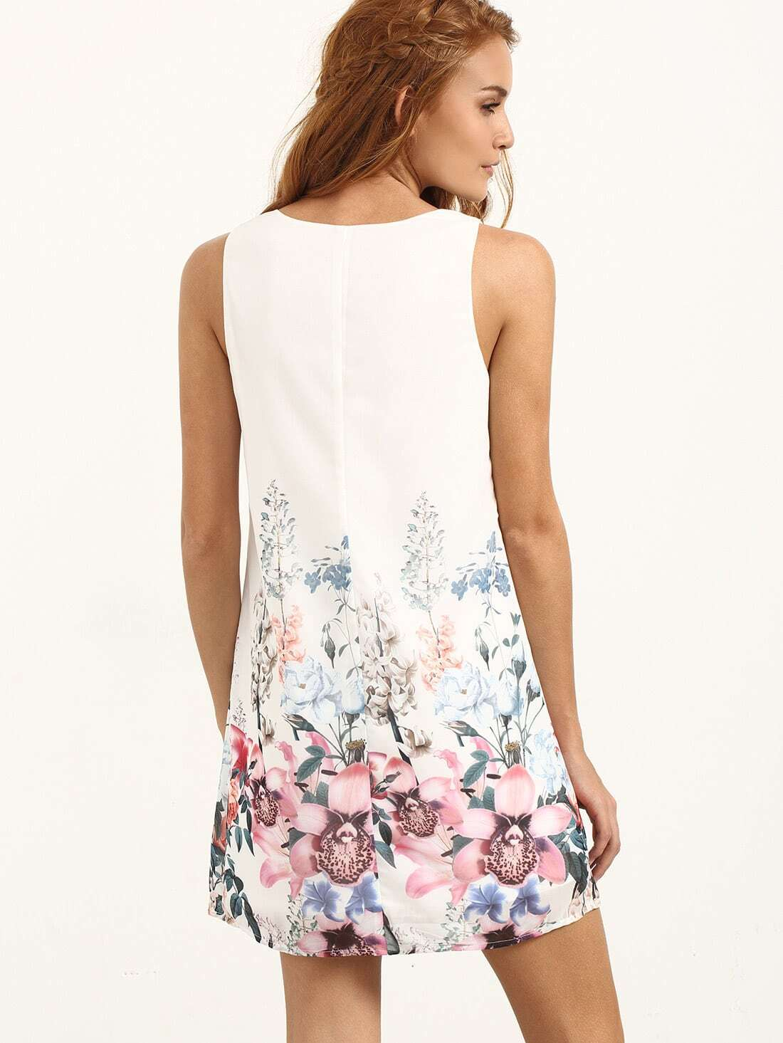 مدل لباس مجلسی کوتاه با پارچه گلدار