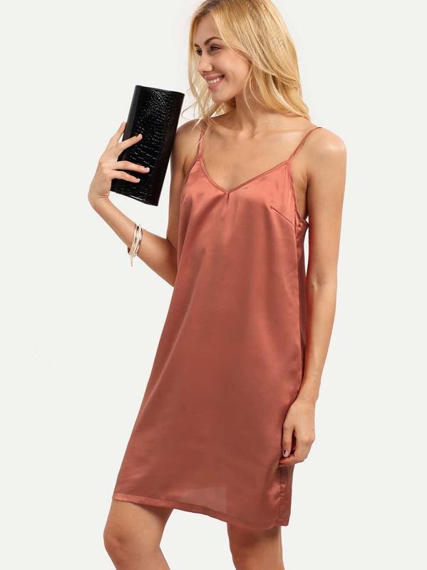 Pink Spaghetti Strap Dress