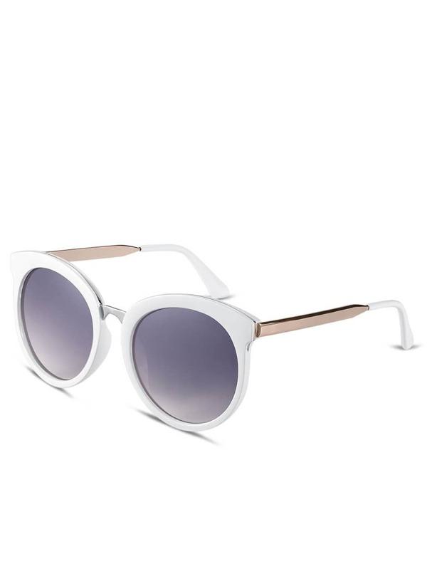 Gafas de sol marco browline lentes gris-Spanish SheIn(Sheinside)