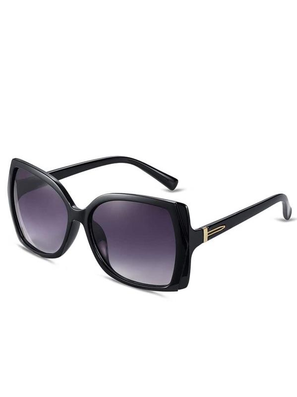 fdef33b427 Gafas de sol talla grande cuadrado -negro | SHEIN ES