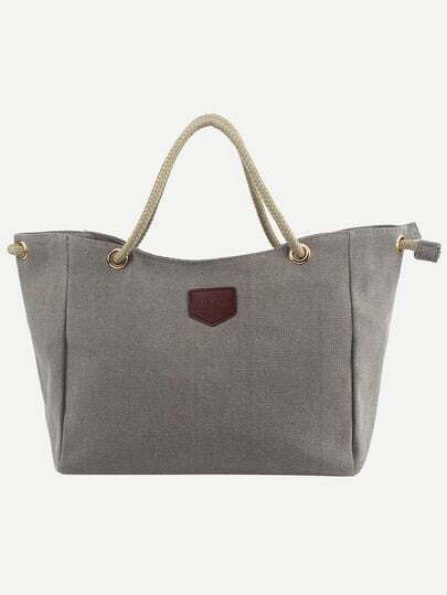 Rope Handle Canvas Tote Bag