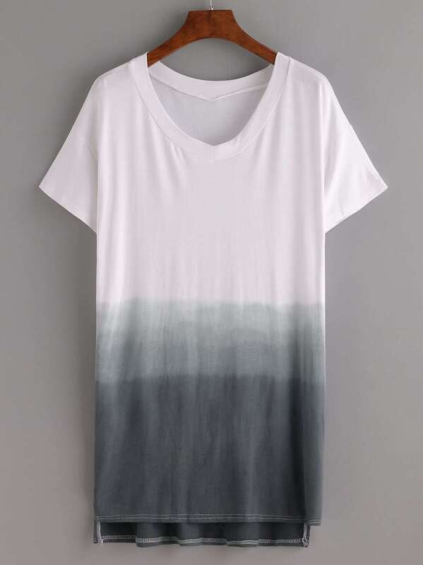 4deeeb80 Cheap Grey Ombre High-Low Tee Dress for sale Australia | SHEIN