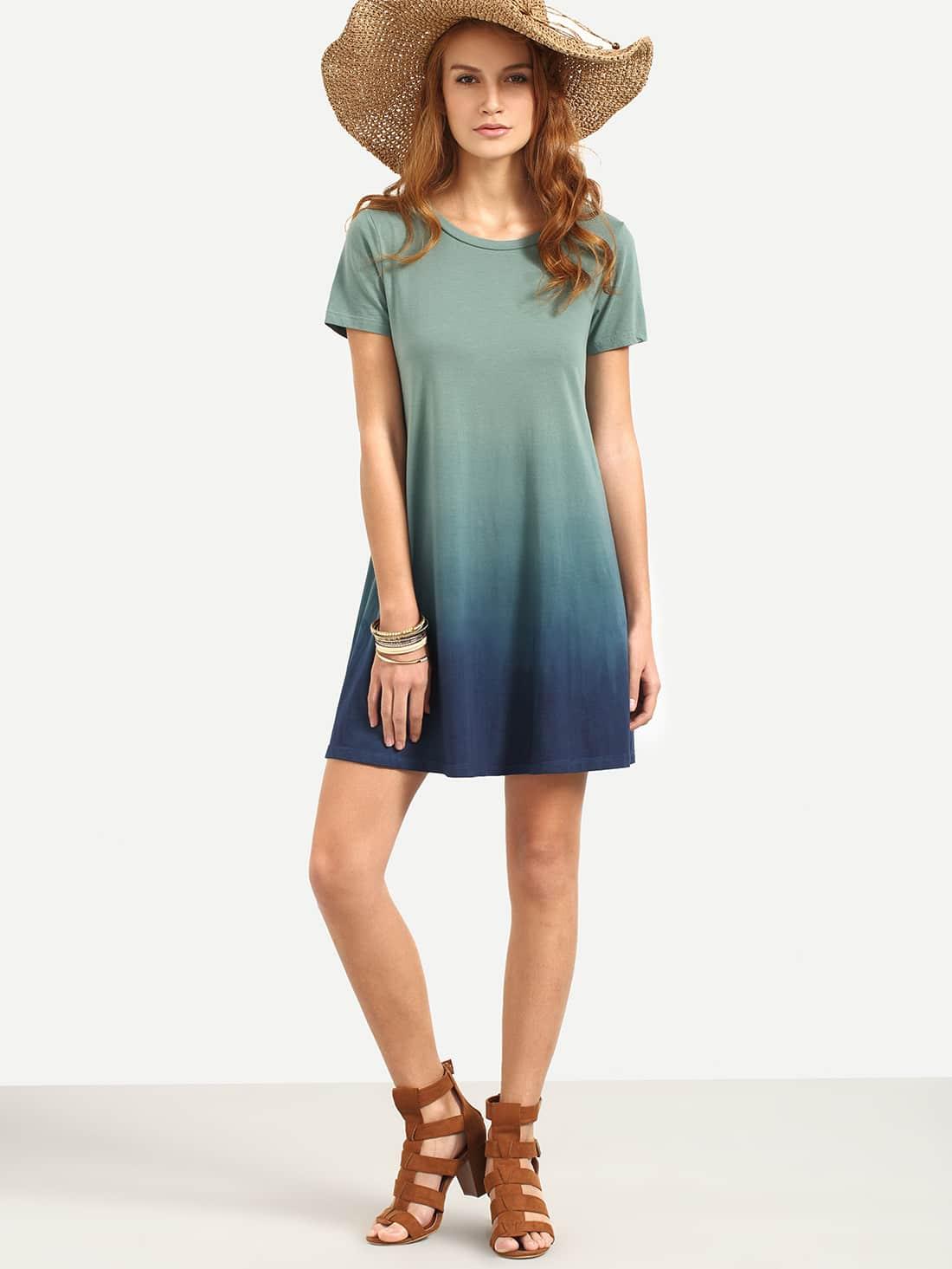 Ombre Tee Dress