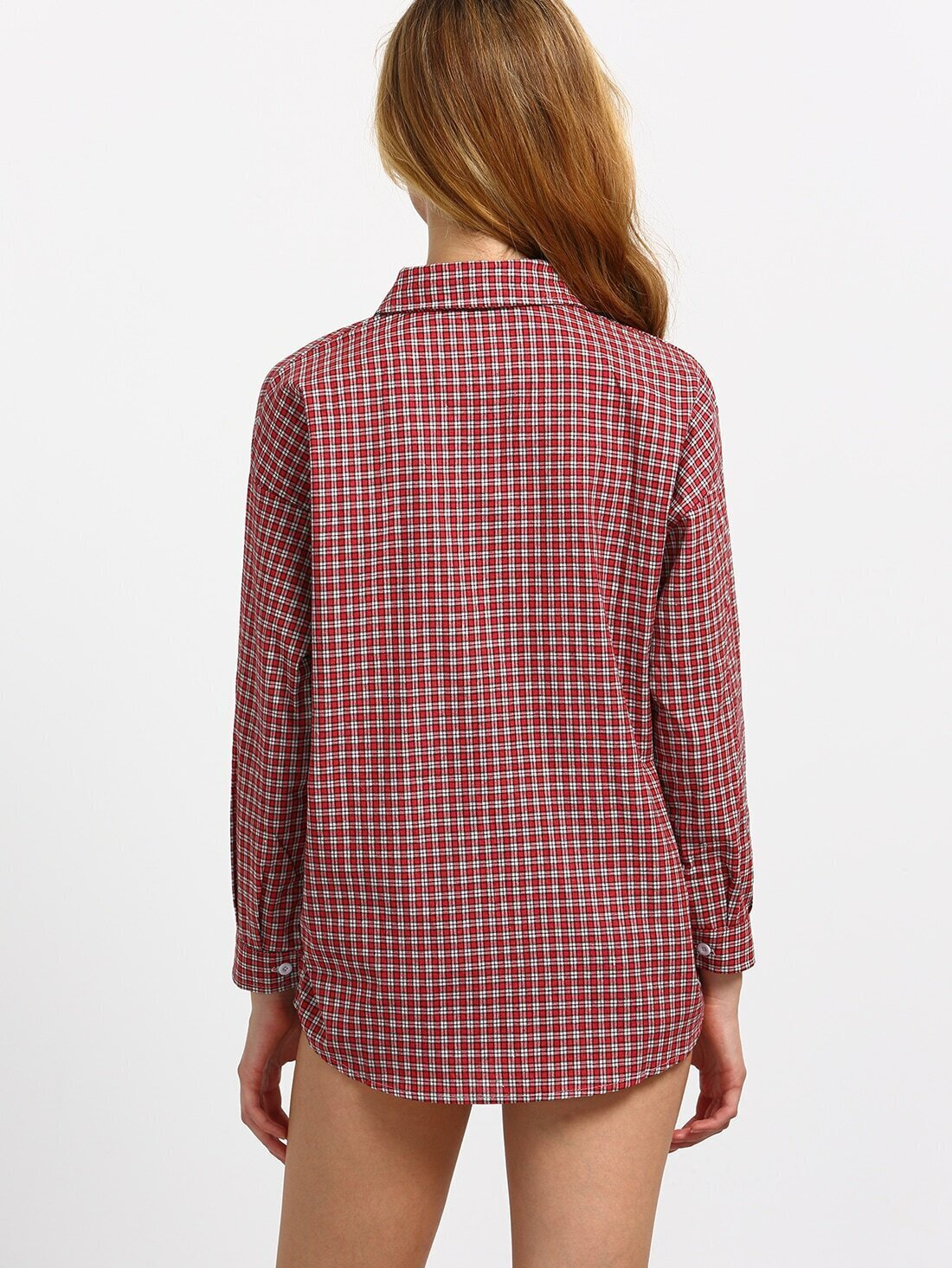 Zelda Front Pocket Plaid Blouse 73