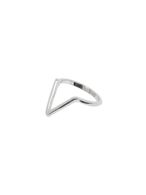Silber Im Form Ausgehöhlter Ring Dreieck 7b6gyf