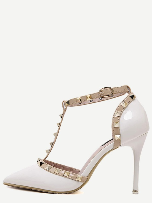 71ca6143349 Cheap White Pointed Toe T-shaped Stiletto Heels for sale Australia ...