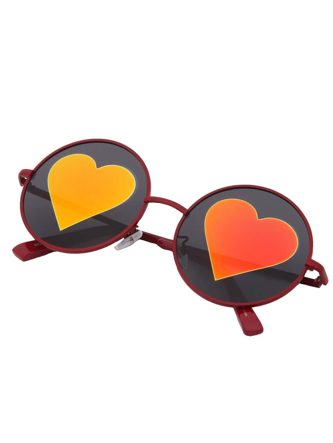 sonnenbrille mit weinrotem rahmen und runden gl sern german shein. Black Bedroom Furniture Sets. Home Design Ideas