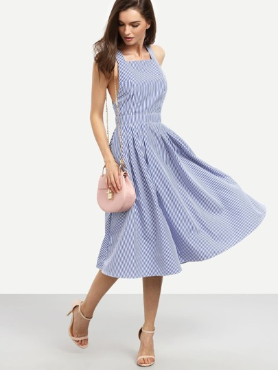 blue in navy en large serena vintage glamour swing dress retro bunny