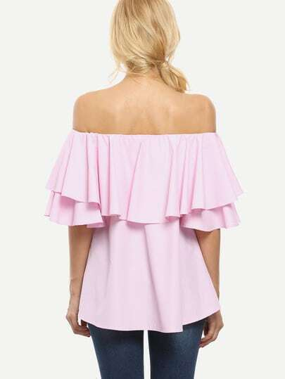 Off The Shoulder Ruffle Blouse 88