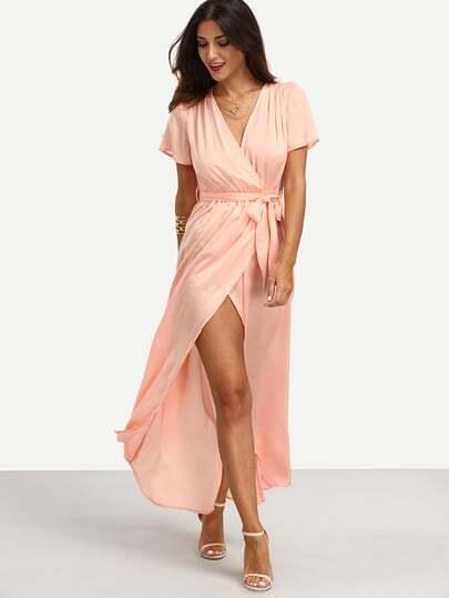 Robe rose manche courte