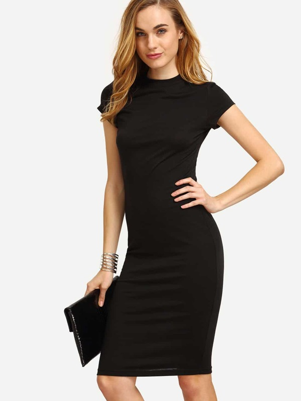 d21f3b8615 Crew Neck Midaxi Pencil Dress | SHEIN