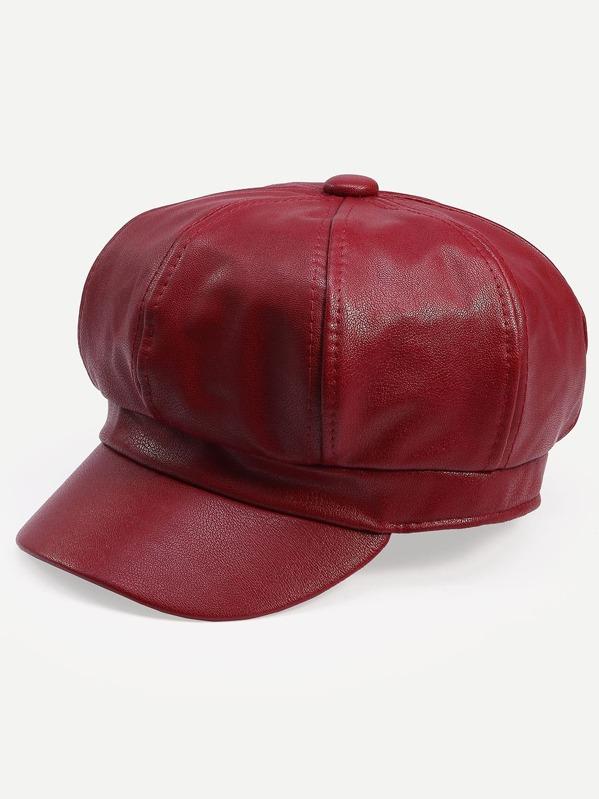 Rouge Chapeau Octogonal Style Bordeaux Vintage 45Ajq3RL
