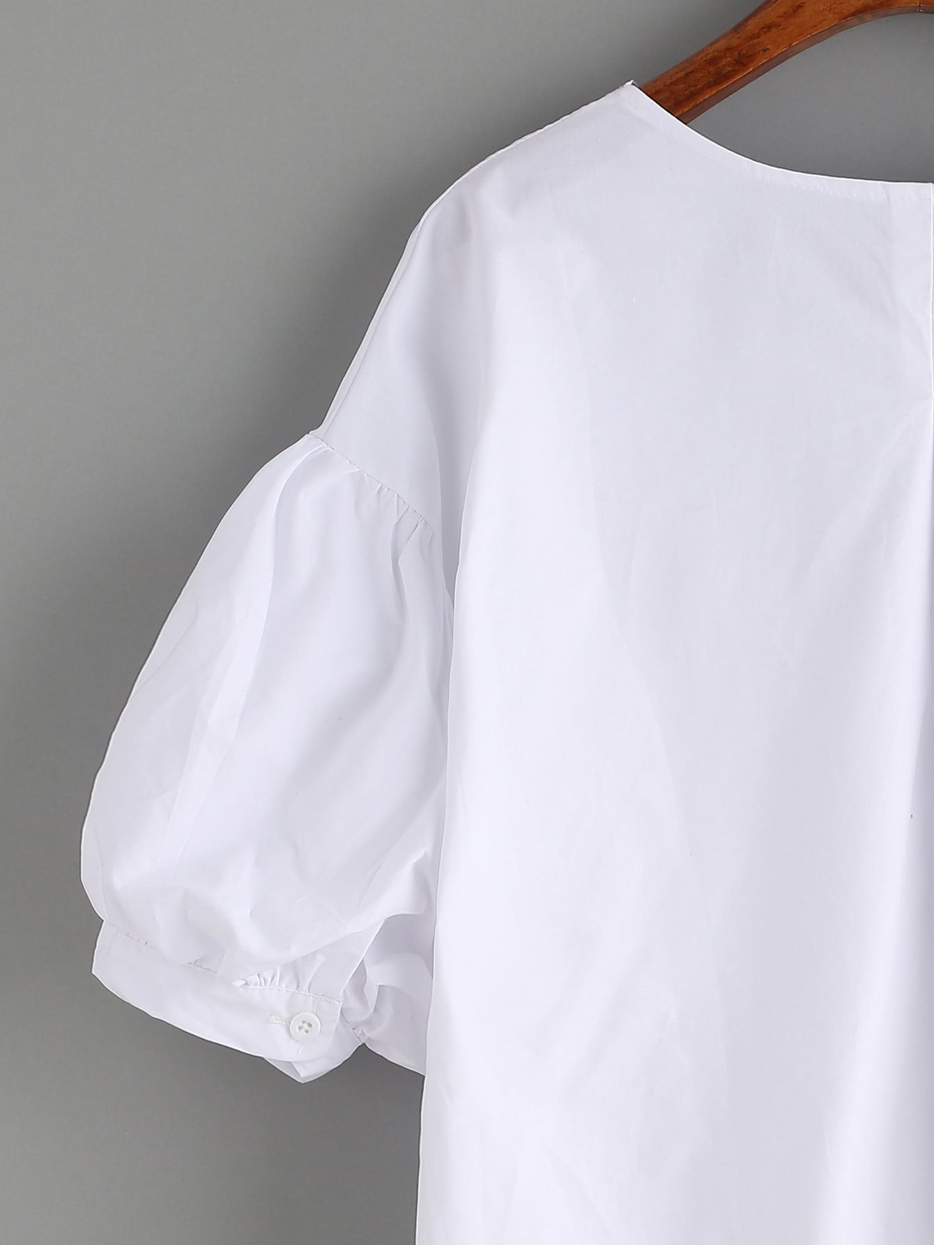 Puff Sleeve Blouse White 121