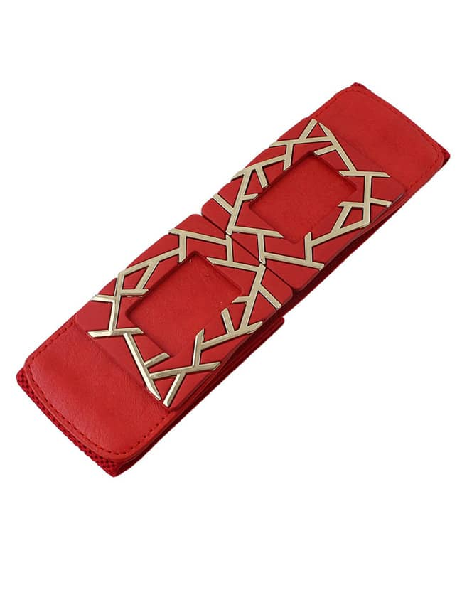 Red Elastic Hollow Out Belt