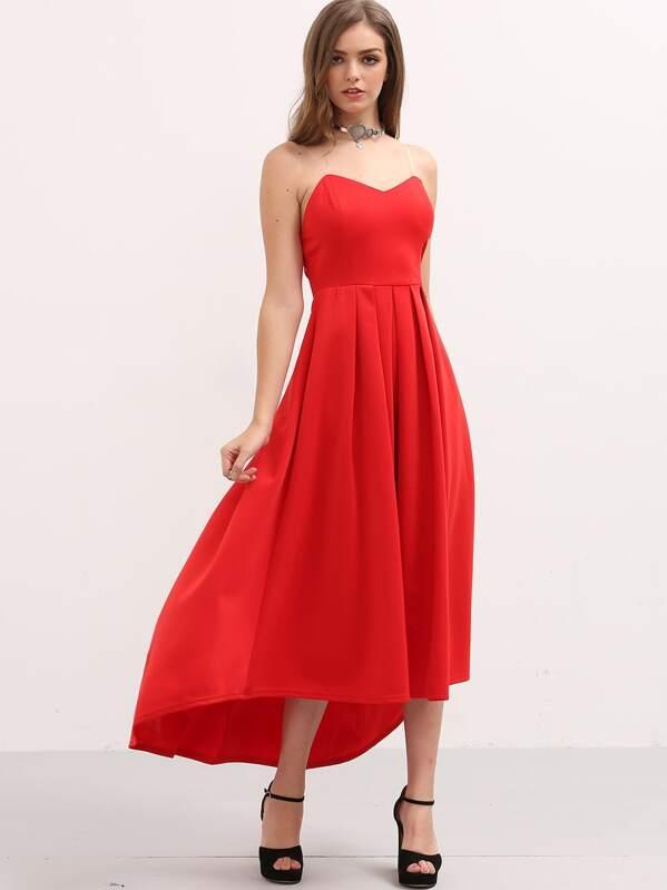 Bandeau Kleid plissiert und hinten länger