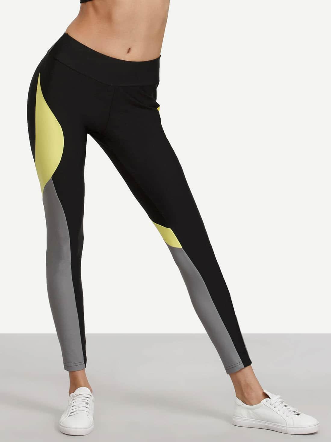 Colorblock Stretchy Skinny Leggings