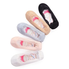 Plain Fabric has some stretch Socks & Tights, size features are: