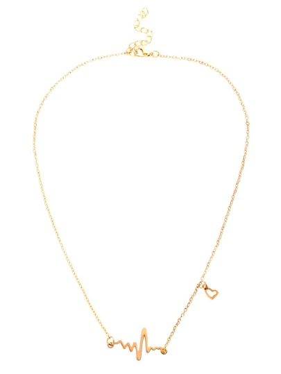 ed71c5d878 Heart Electrocardiogram Shaped Chain Necklace