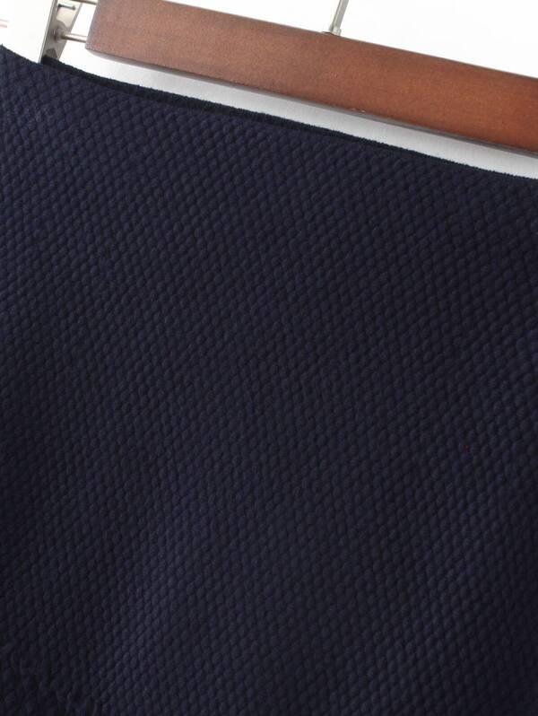 49922daeff Navy High Waist Fishtail Skirt | SHEIN UK