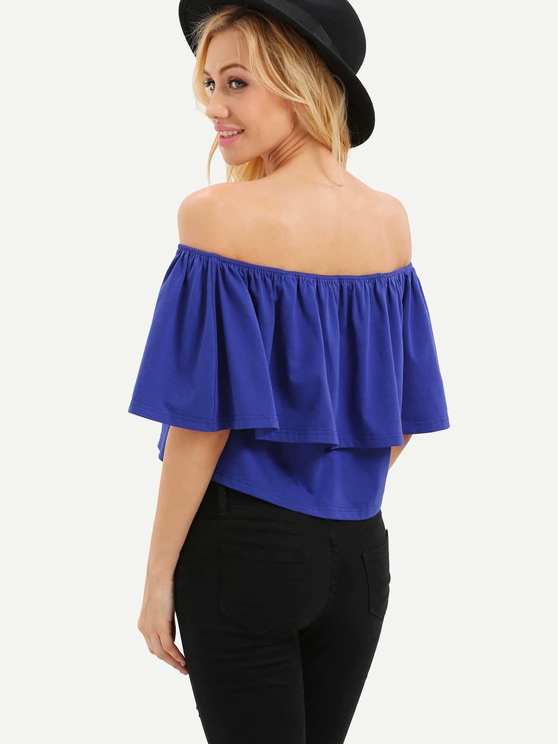 ruffle shoulder