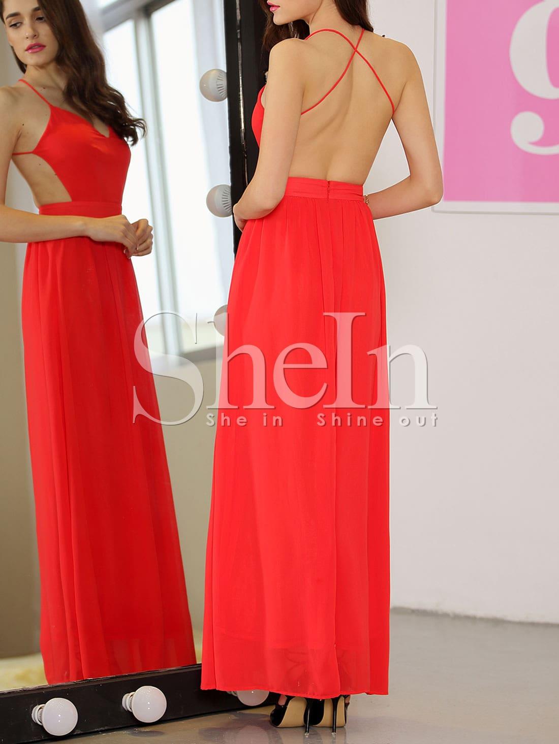 Shopping V-Neck Plain Maxi Dress sizes cute for juniors