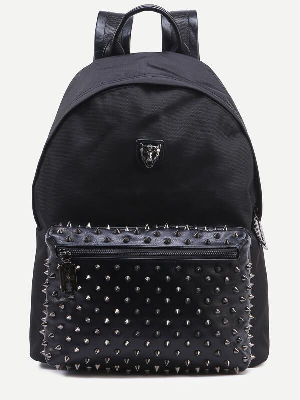 34bc1fc5e1d4 Чёрный стильный рюкзак с заклепками