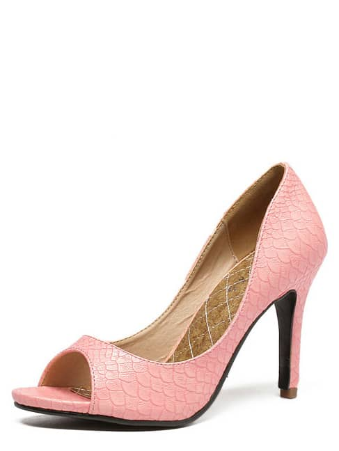 Zapatos Serpiente Rosa De Piel Tacón Aguja qGUzVSMjLp