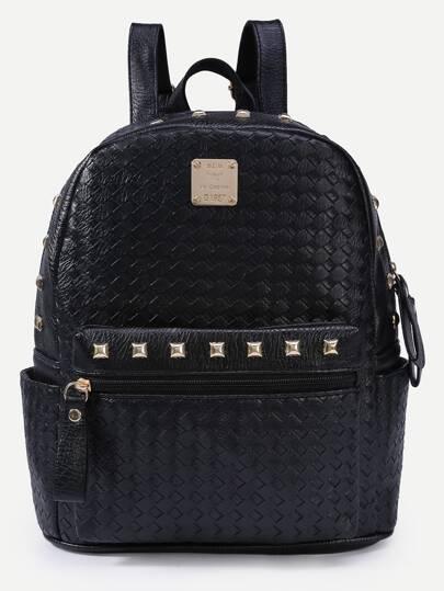 22826e7a3 حقيبة ظهر سوداء بدبابيس | شي إن
