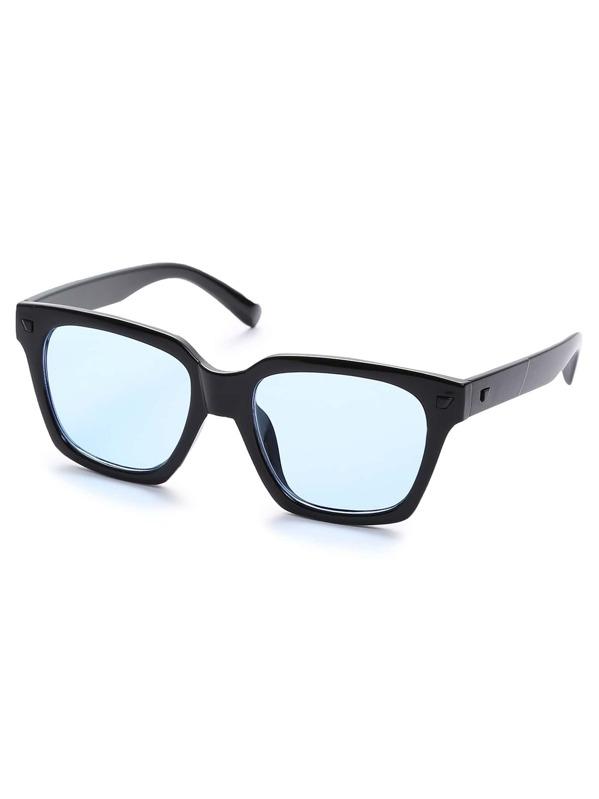 9675e5a66b Gafas de sol retro lentes azules -Spanish SheIn(Sheinside)